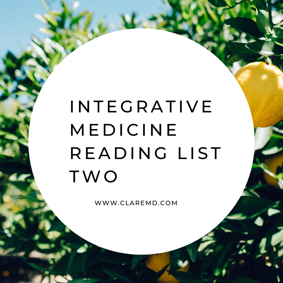 Integrative Medicine Reading List 2